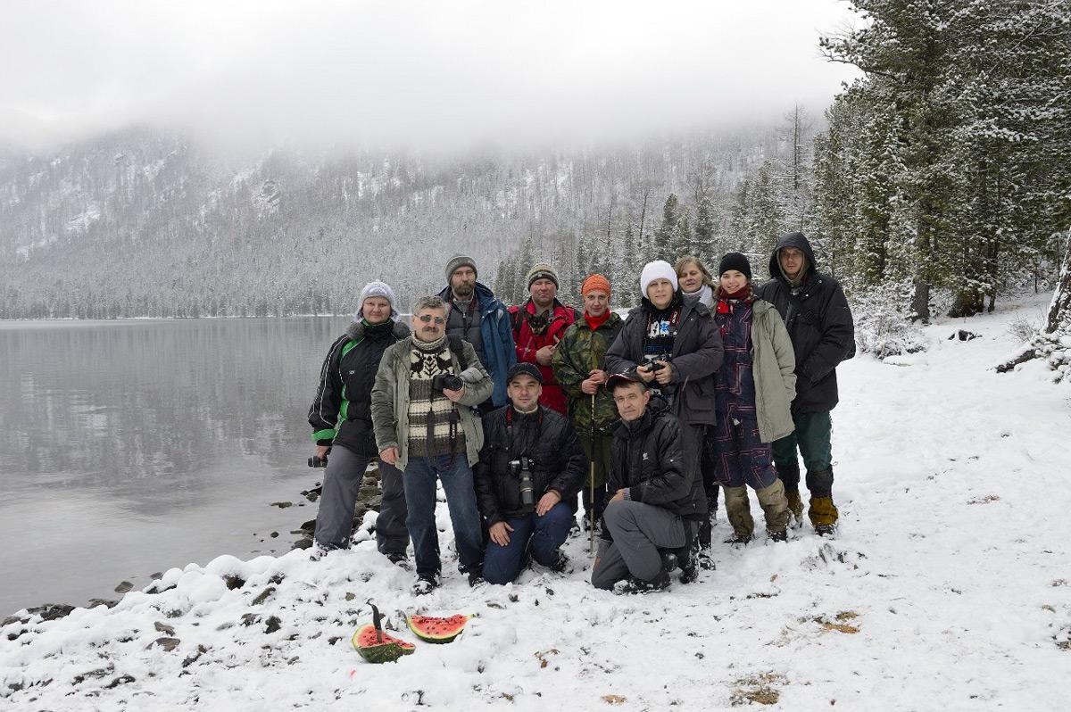 Группа на озере Нижнем Мультинском