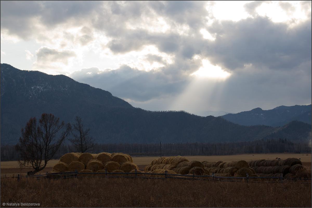 Закат в Уймонской долине
