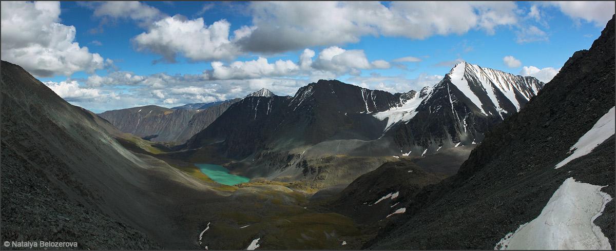 Долина Тура-оюк с перевала Ленинградский