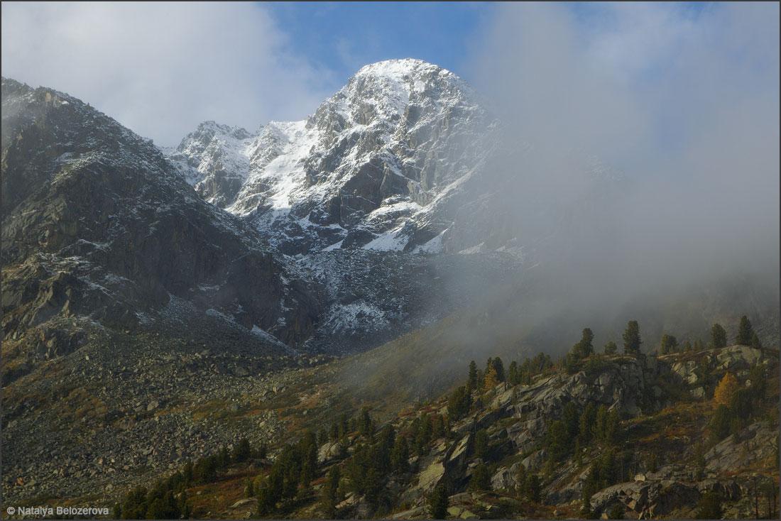 Снежные горы над озером Дарашколь