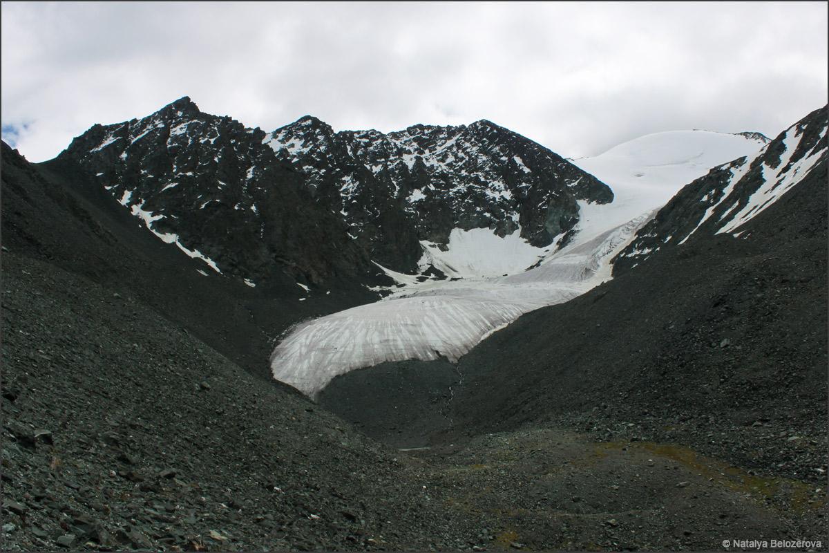 ледник Парашют под перевалом Ленинградский