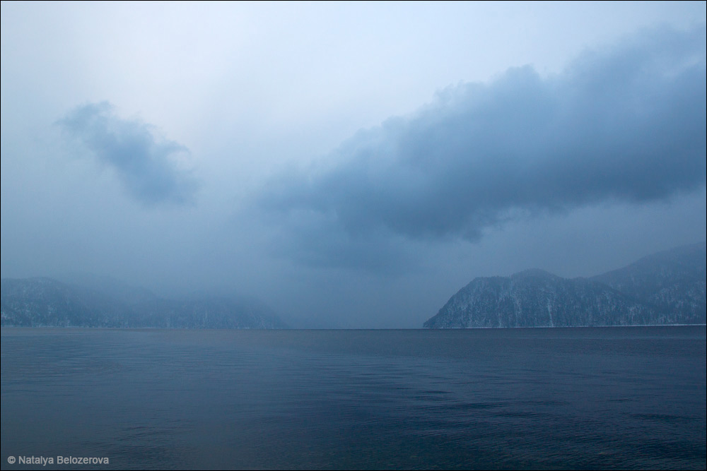 Рассвет на Телецком озере в Яйлю