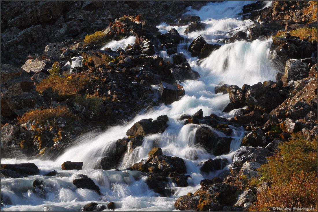 Долина Каракабак. Водопад со второго озера