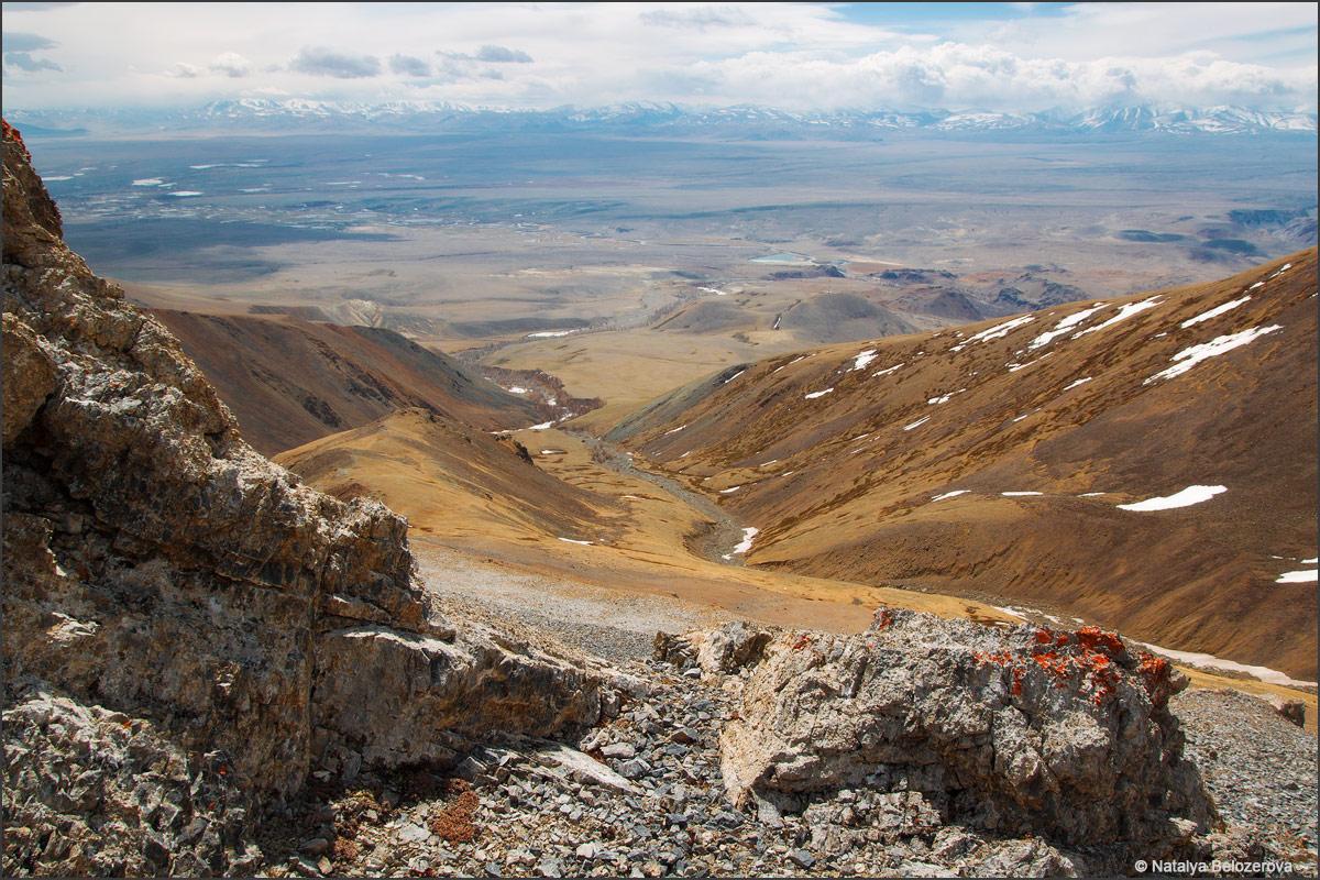 Верховья Тыдтуярык. Внизу Чуйская степь