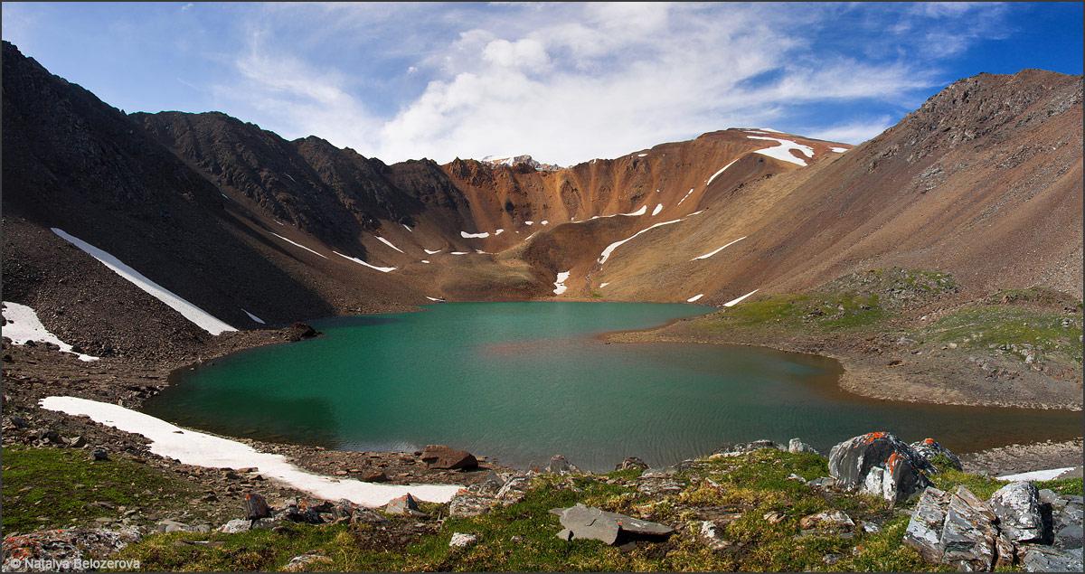 Озеро Паспалагачиоюк. Вдали перевал Томич