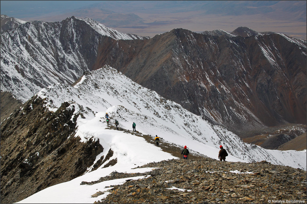 Спуск с вершины Талдуайр