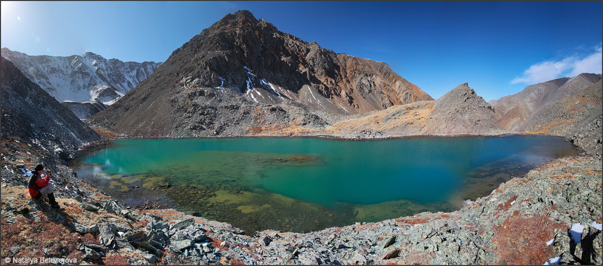 Озеро под вершиной Талдуайр. Хребет Чихачева
