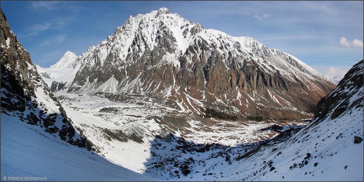 Долина Актру с подъема по Малому Актру