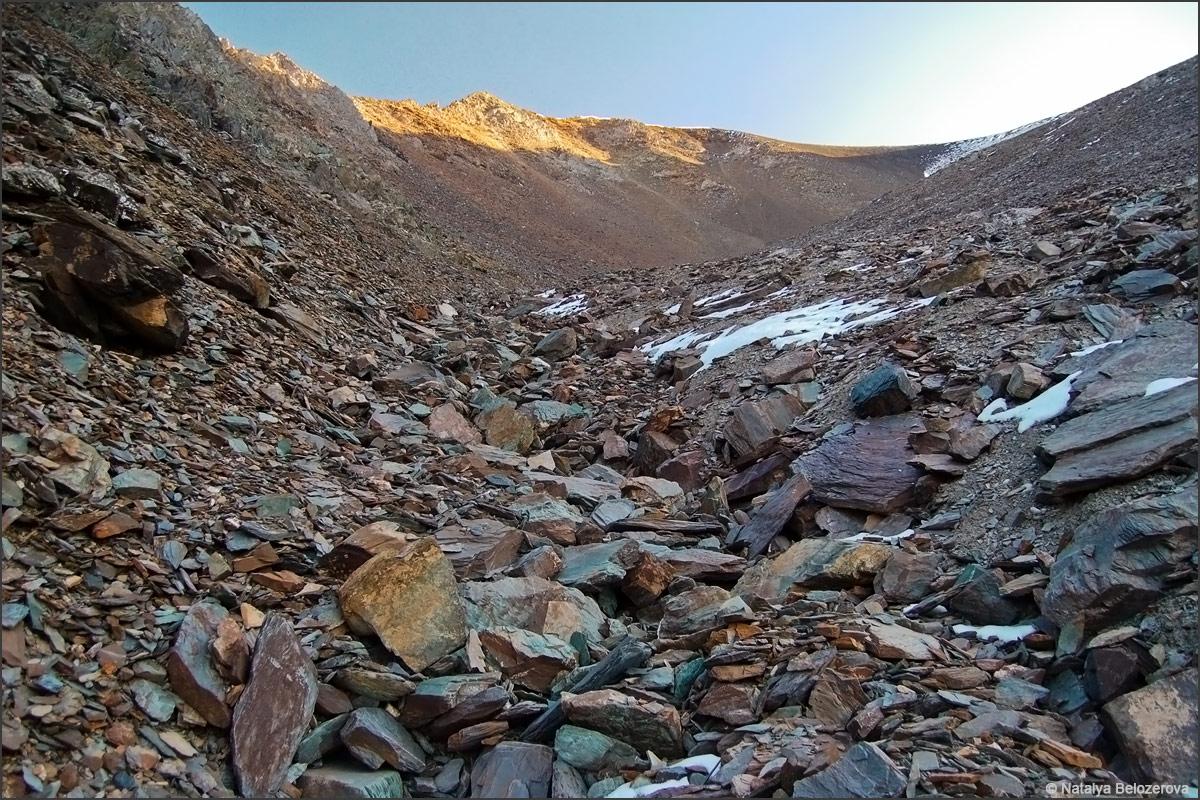 Кулуар к вершине Сайлюгем. Хребет Чихачева