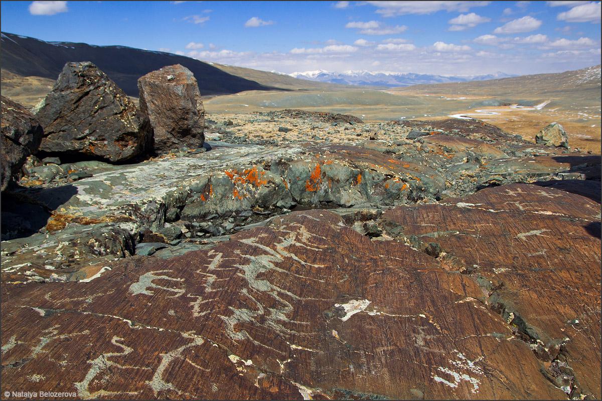 Петроглифы в долине Елангаша