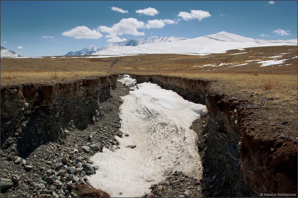Разломы после землетрясения 2003. Долина Ирбисту