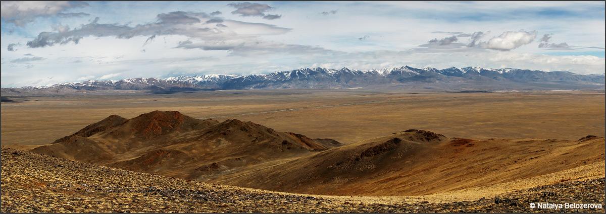 Курайский хребет с отрогов Южно-Чуйского хребта