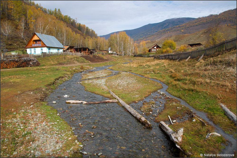 Река Тюнгур в селе Тюнгур