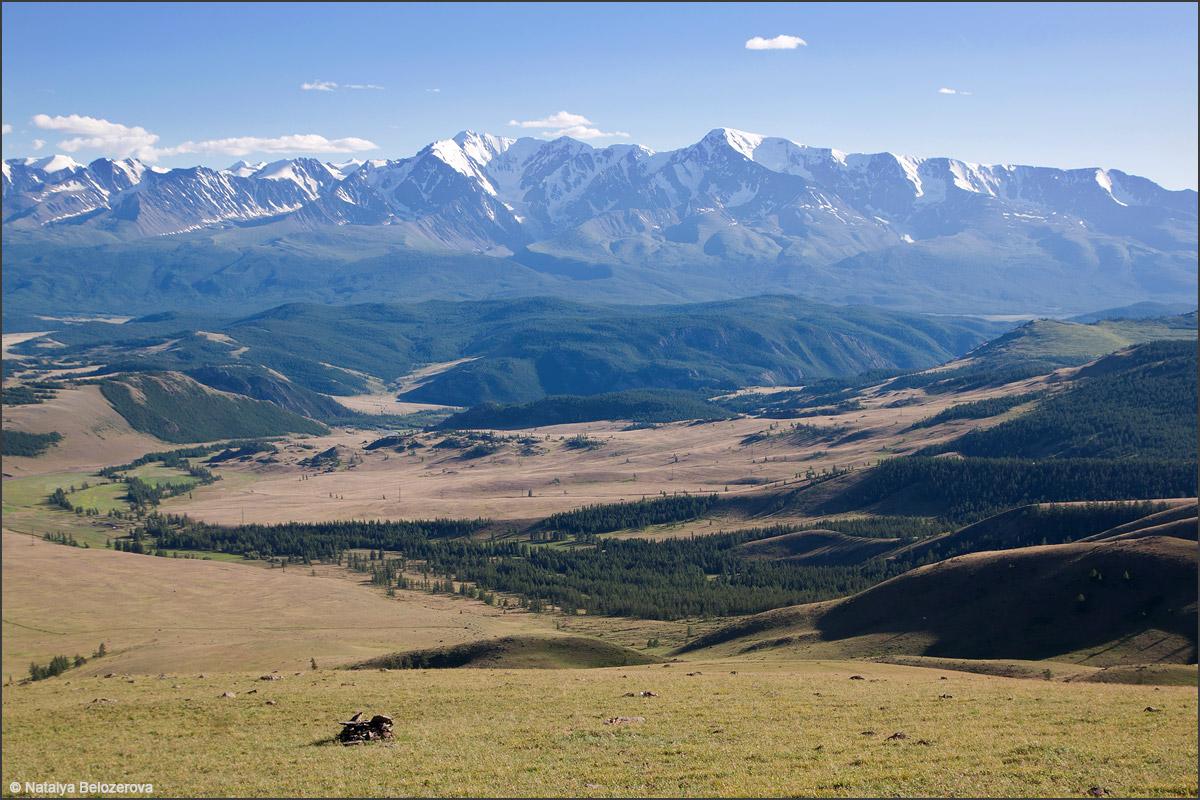 Северо-Чуйский хребет со склонов Курайского хребта