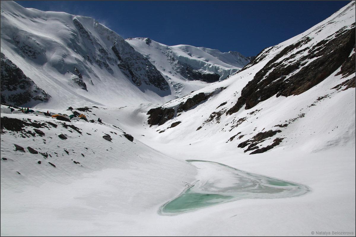 Голубое озеро у ледника Большой Актру