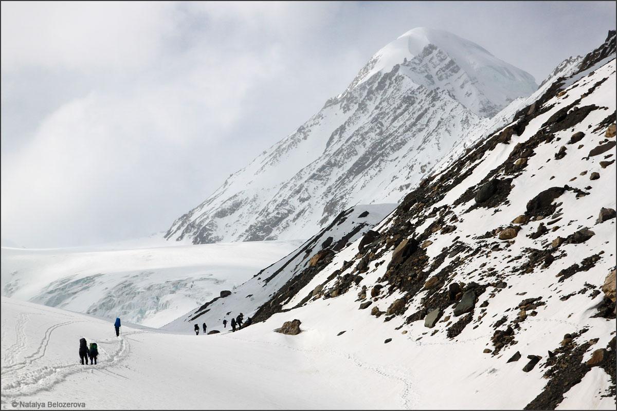 Пик Актру с ледника Большой Актру