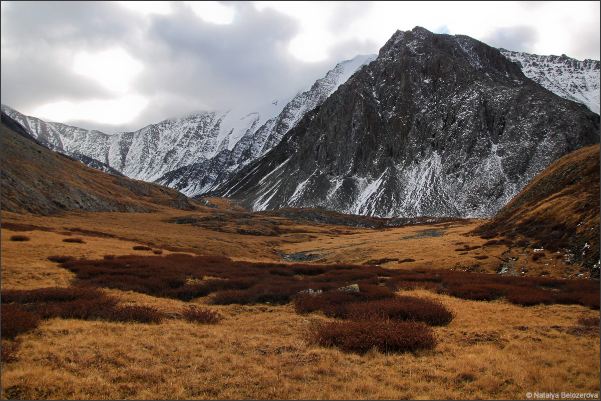 Верховья Сайлюгема. Хребет Чихачева