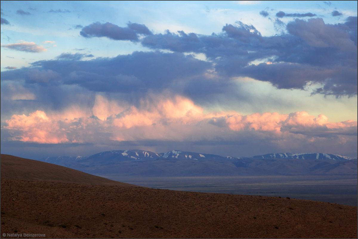 Закат над Чуйской степью