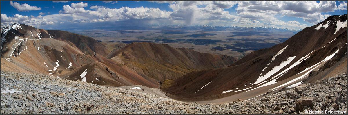 Чуйская степь с верховий левого притока Тыдтуярык
