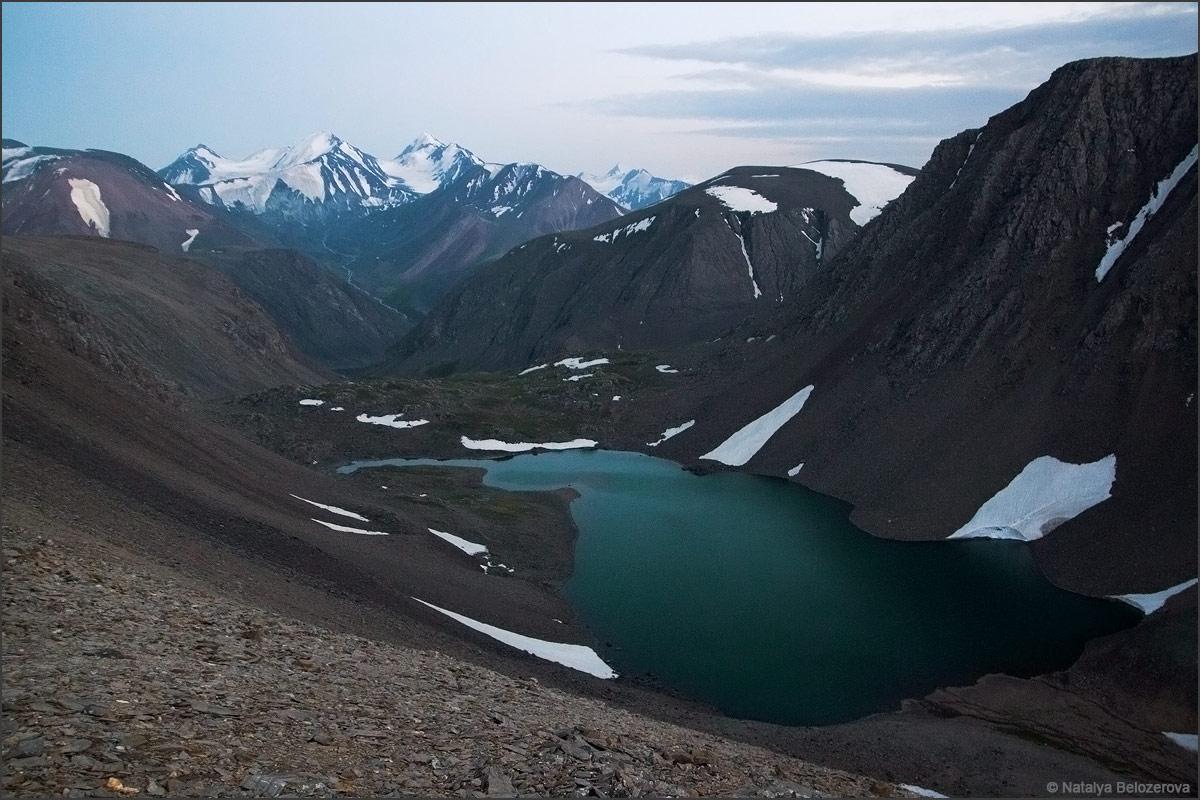 Озеро Паспалагачиоюк в сумерках