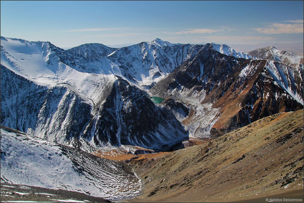 Массив Талдуайр с вершины Сайлюгем. Хребет Чихачева