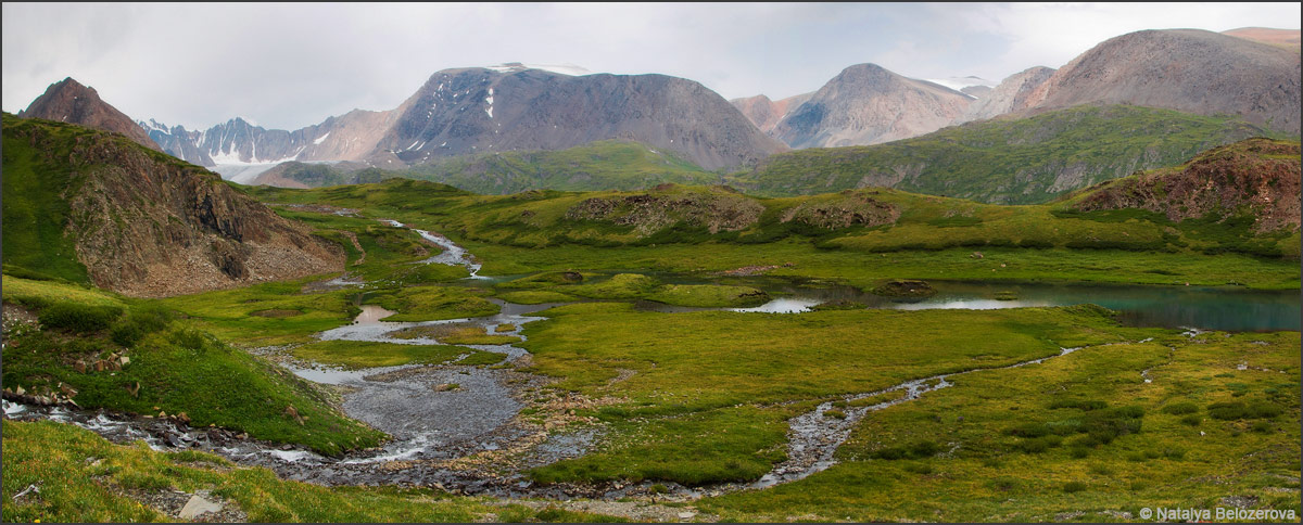 Разливы над Джело на спуске с перевала Эренбурга