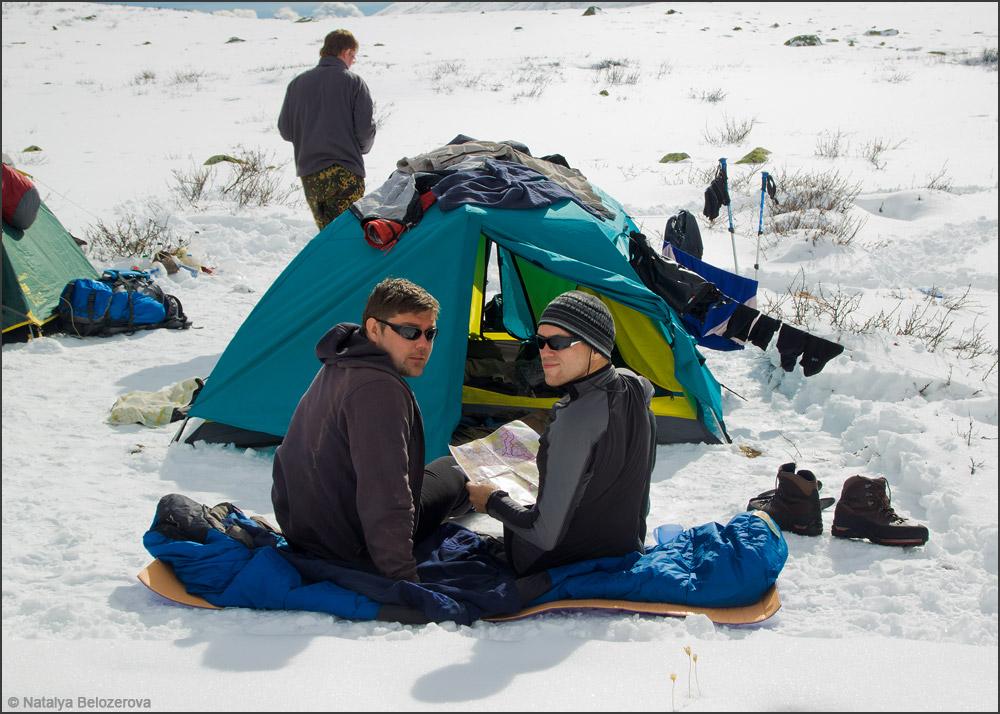 Лагерь на озере Нижнее Тюргундинское