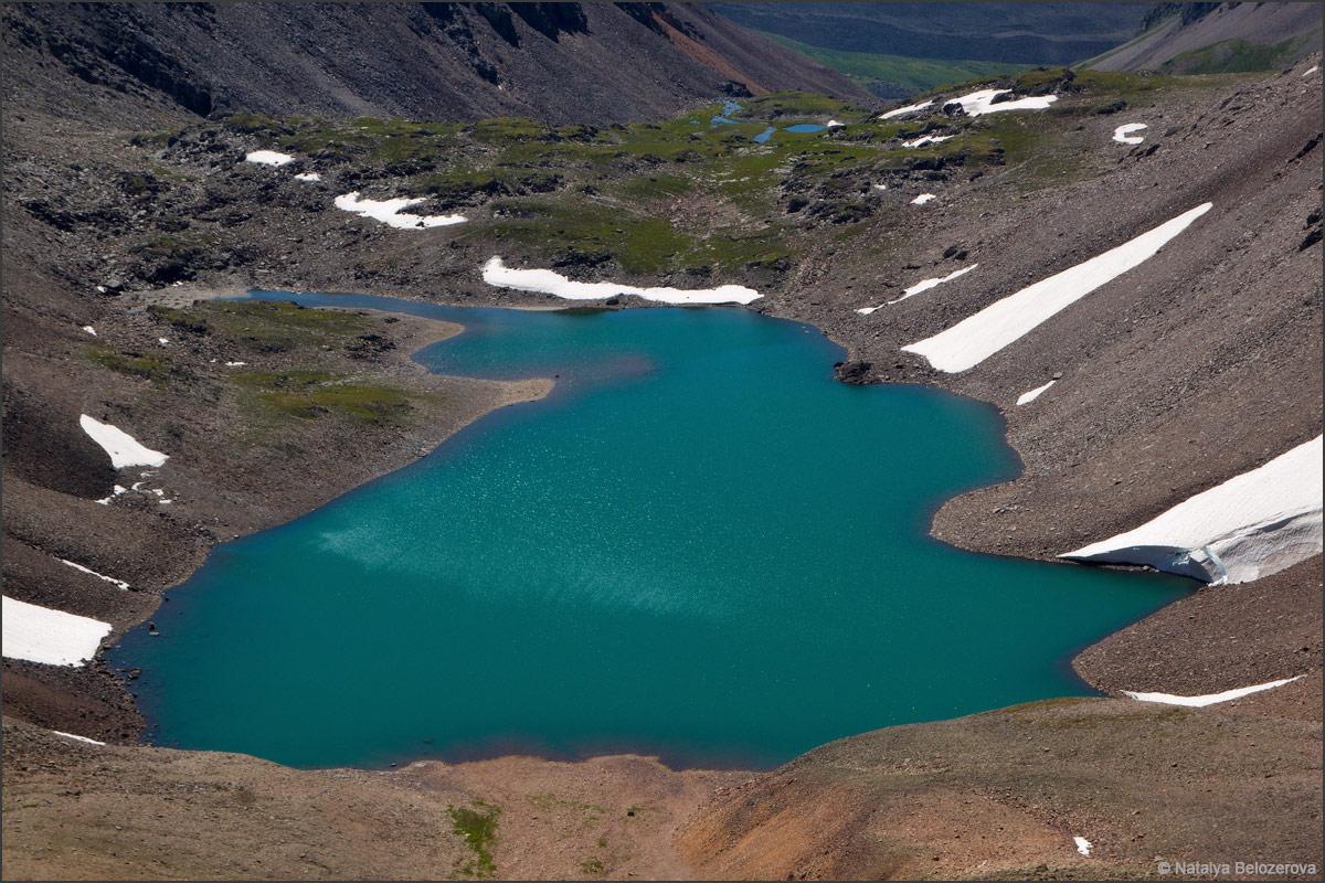 Озеро Паспалагачиоюк с перевала Томич