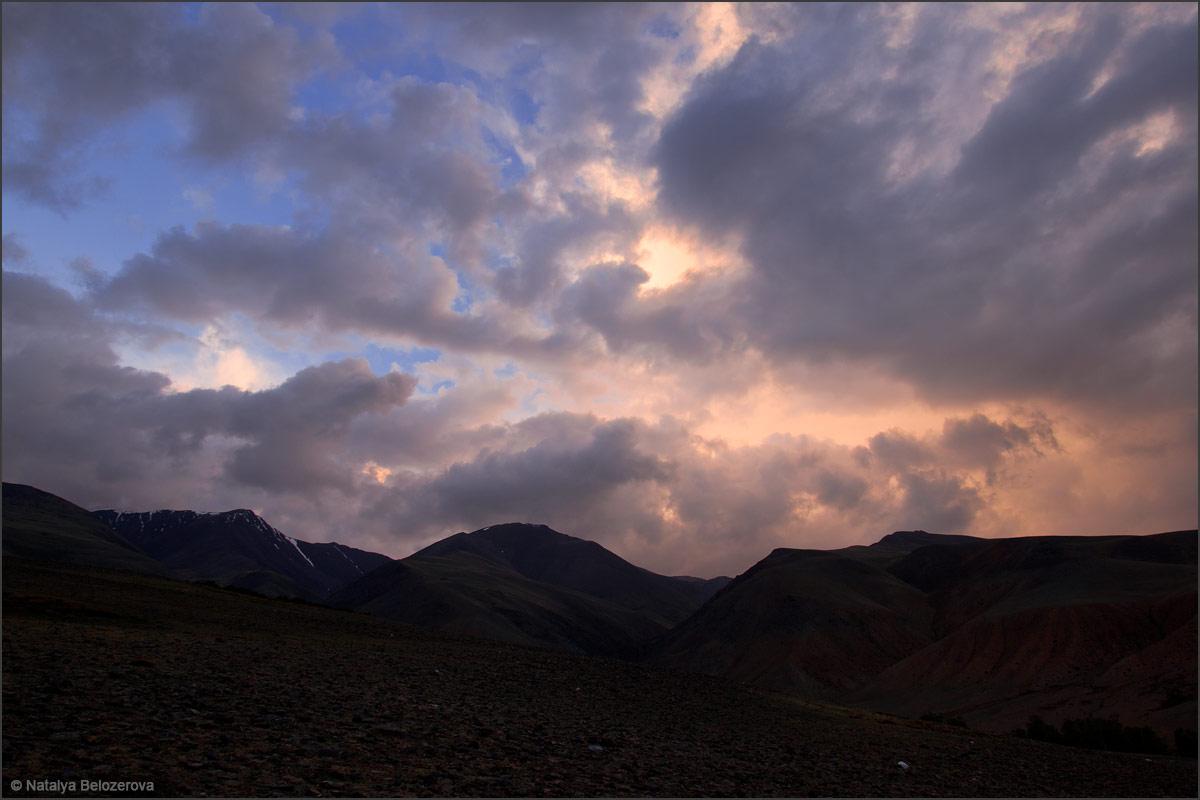 Курайский хребет на закате