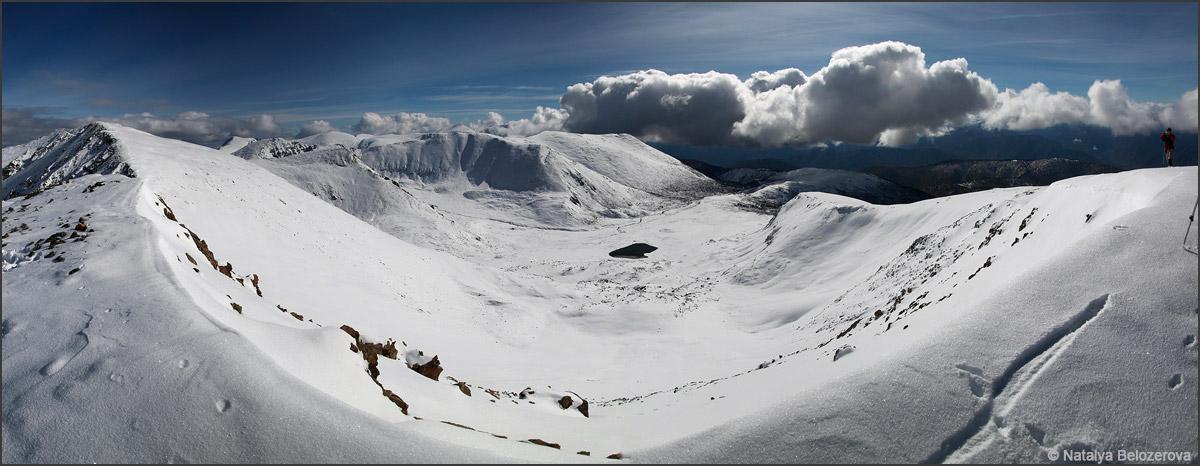 Долина Тюргунды близ вершины Кызыл-кую