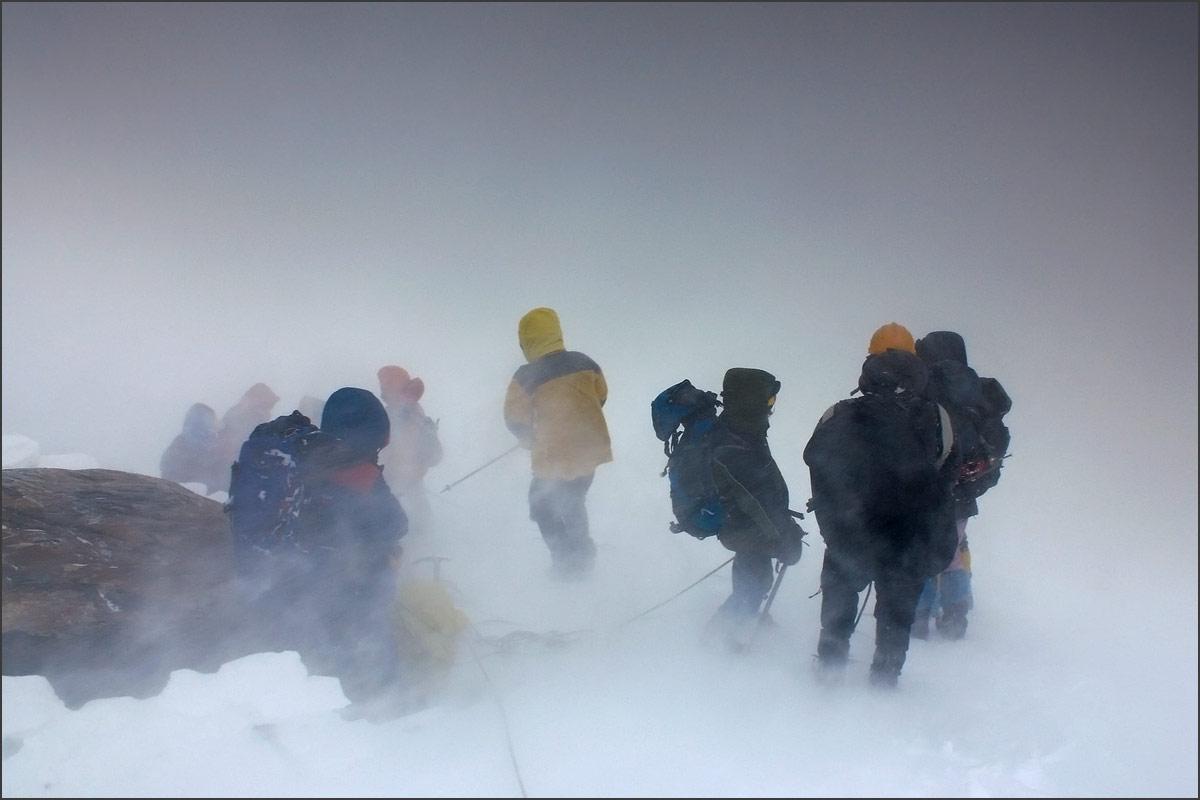Метель на леднике Большой Актру