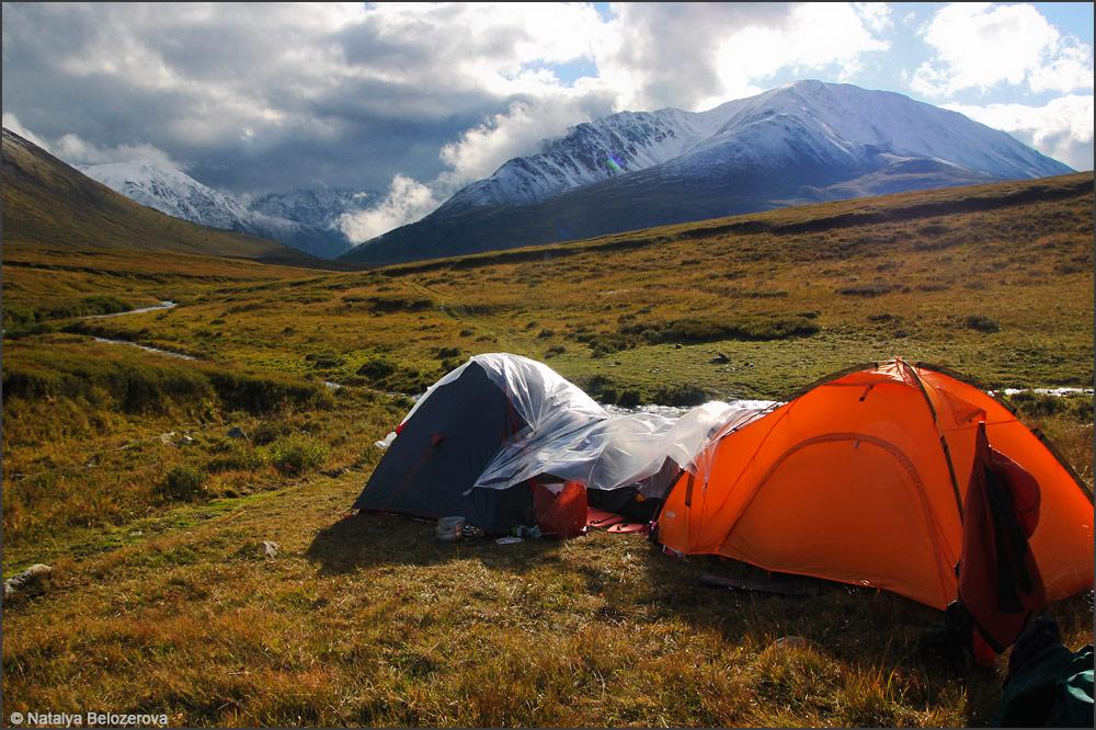 Лагерь на плато Ештыколь