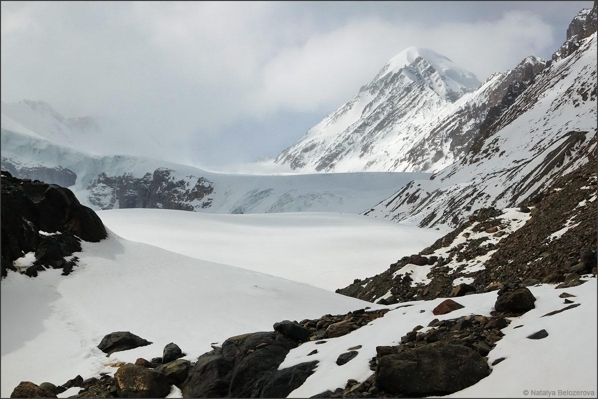 Пик Актру и ледник Большой Актру