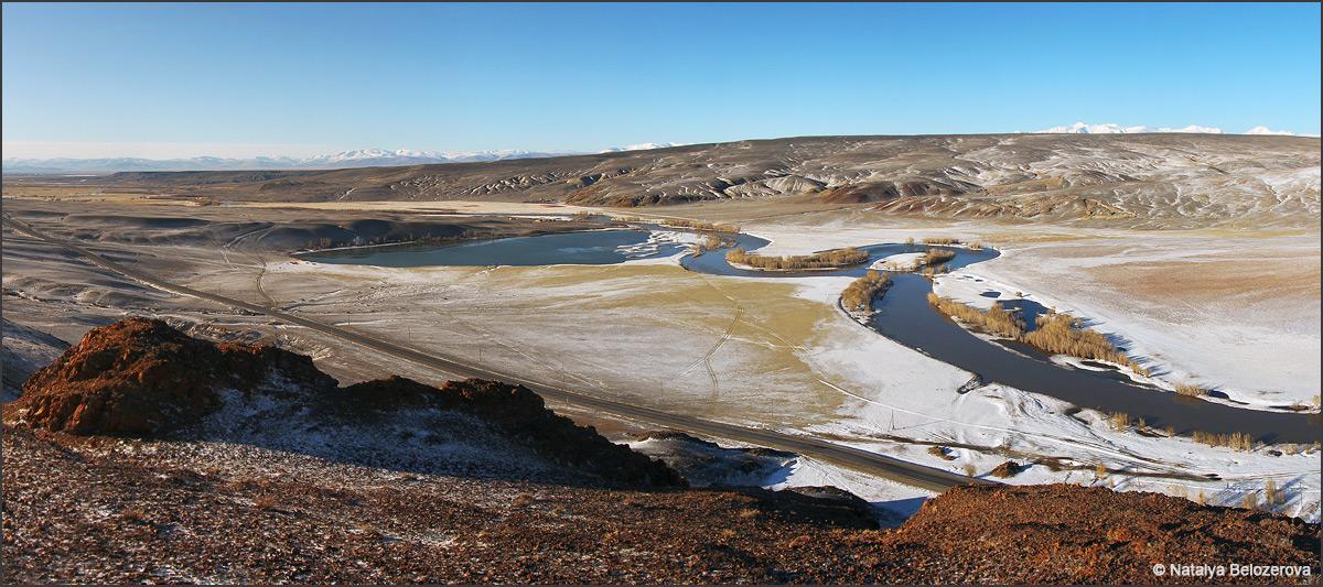 Чуйская степь и долина Чуи с Красной горки