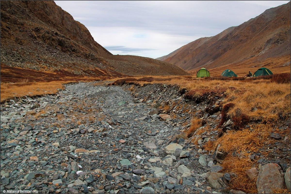 Лагерь в верховьях Сайлюгема