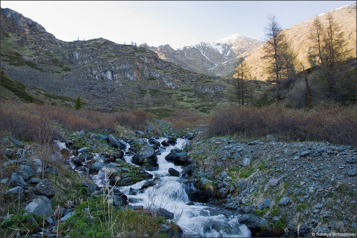 Долина ручья Беленький (приток Корумду-айры)