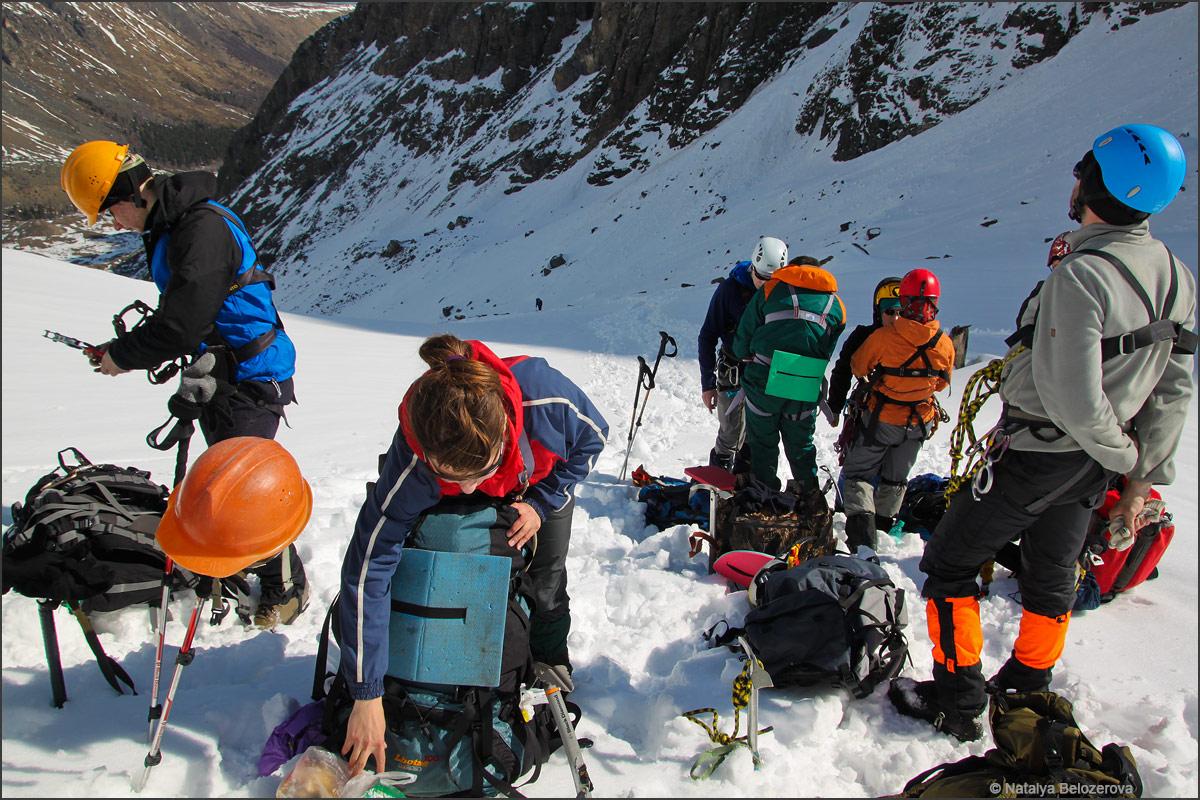 На леднике Малый Актру