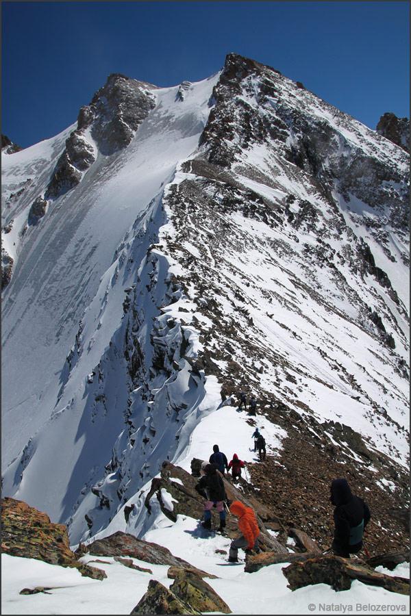 Вершина Кызылташ и перевал Контейнер