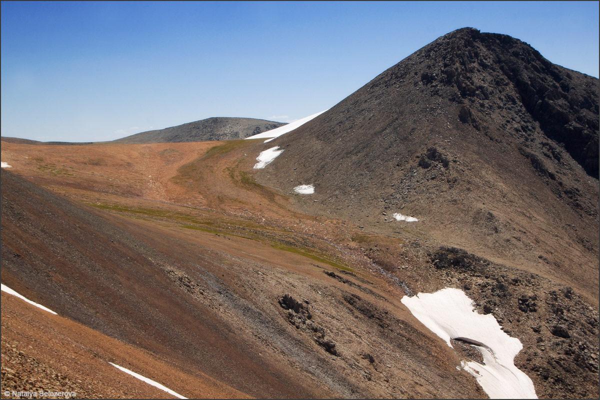 Перевал Эренбурга с перевала Томич