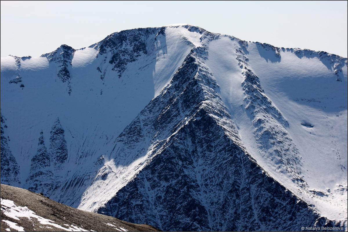 Вершина Талдуайр с вершины Сайлюгем. Хребет Чихачева