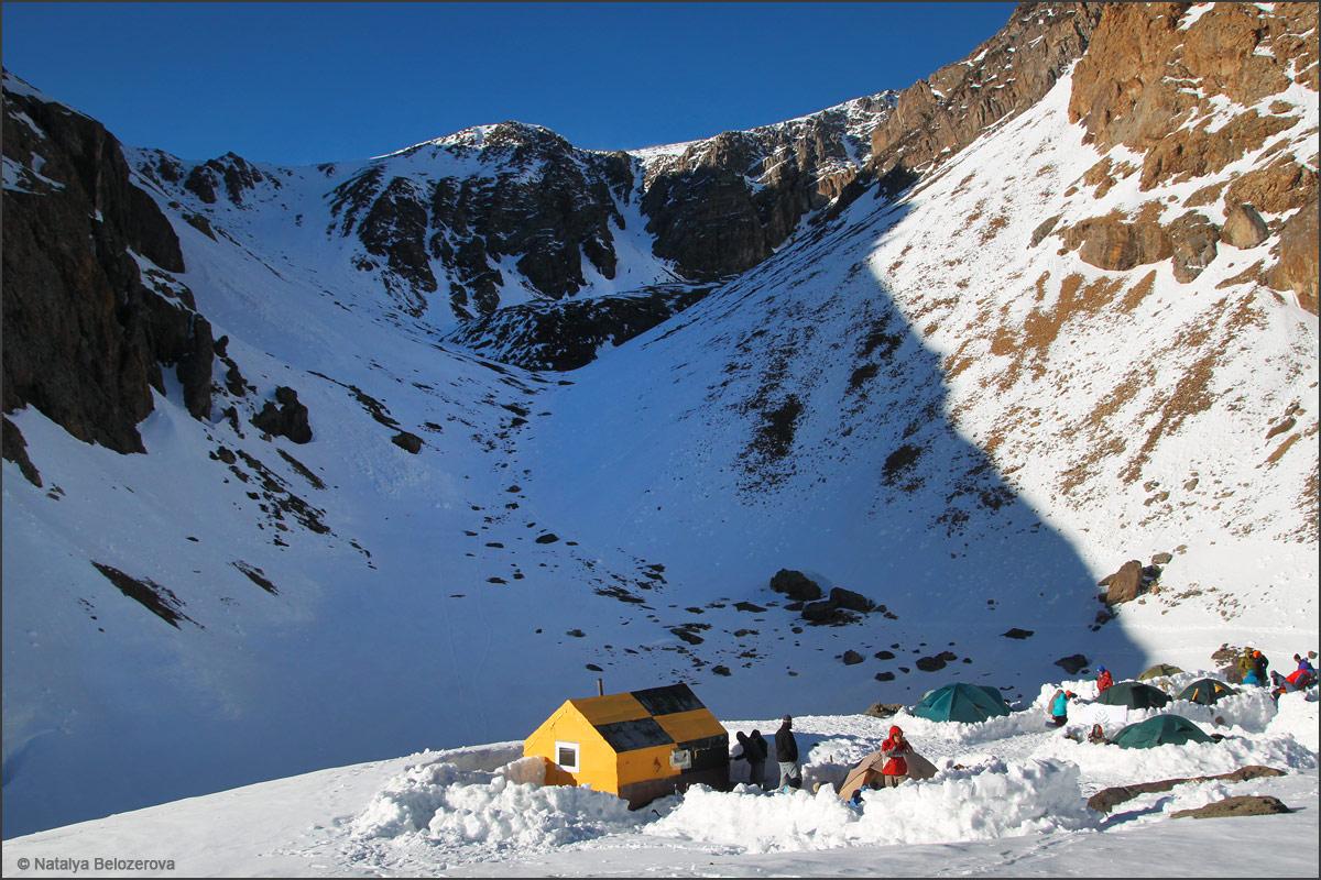 Лагерь у Голубого озера в Актру