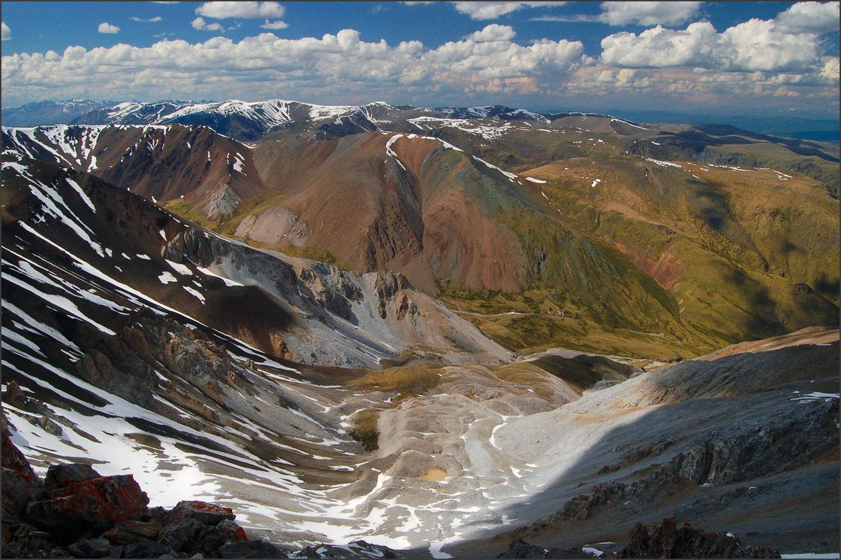 Курайский хребет с верховий притока Тыдтуярык